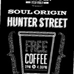 Free Coffee until 26/09 during 2pm - 4:30pm @ Soul Origin [Hunter Street, Sydney]