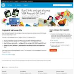 Buy 2 Identical HP Ink Cartridges in Same Transaction and Get a VISA Prepaid Gift Card up to $30