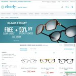 Clearly Contacts up to 65% off Selected Frames + Free Clear Lenses or 50% off Speciality Lenses
