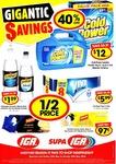 IGA & SUPA IGA - Cold Power 4kg/4 Litre $12, Fantastic Crackers 97c + More (Friday 27 May to Sunday 29 May)