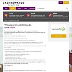 5.5% off Woolworths WISH eGift Cards and 8.0% off BIG W eGift Cards (Extended to June 30) @ Cashrewards