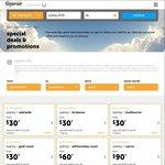 Tigerair Domestic Sale: Short Haul $30, Medium Haul $60, Long Haul $90 (Jetstar $27, $54, $81)