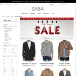 SABA - Extra 30% off on Suit Jackets and Coats Already on Sale (Men)