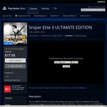PS4 Sniper Elite 3 Ultimate Edition $9.45 (PS+) $17.95 (without PS+) @ PSN Store