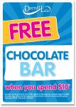 Free Chocalate Bar when you spend $10 at Darrell Lea