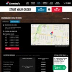 Any Traditional Pizza for $3.95 @ Domino's Burwood (VIC)