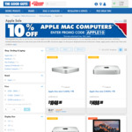 The Good Guys - 10% off Plus a Further $50 off Apple Mac Computers - Promo Codes: APPLE10 + APPLE50