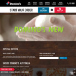 Pick up 3 Pizzas from $23.95 @ Domino's