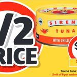 ½ Price Sirena Tuna 185g Varieties $2 @ Coles