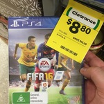 FIFA 2016 PS4/XB1 for $8.80/ $15.60 at Woolworths