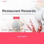 Liven  (App) Take $10 off $15 Spend at Roll'd (New and Existing Customers)