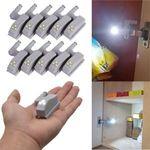 10 x 0.25w Hinge LED Sensor Light for Kitchen Cabinet Wardrobe for $6.81 via Riverstone88 eBay