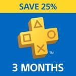 PS Plus: 3 Month Subscription - $25.46 (25% off) @ PlayStation Store (New and Lapsed Subscribers)