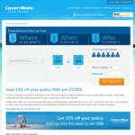Cover-More Travel Insurance - 10% off