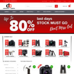 Up to 80% off Selected Products & Free Shipping Coupon for Orders over $49 @ DC Cameras & Optics
