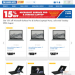 15% off Microsoft Surface Pro and Surface Laptop @ The Good Guys