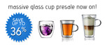 Save up to 36% on Avancer Glassware - Entire range of Double Wall Glass Cups - Lowest prices yet