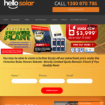 [VIC, NSW, SA] Fully Installed 6.5 kW Solar Panels & Inverter $3,999 (or $1,999.50 after 50% VIC Solar Rebate) @ HelloSolar