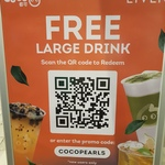 [NSW] Free Large Drink @ CoCo Fresh Tea via Liven (New Users Only, Sydney)