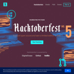 Free Hacktoberfest T-Shirt by Opening 5 Pull Requests @ GitHub