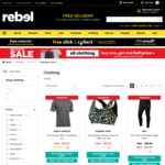 All Clothing Buy One Get One Half Price @ rebel (Includes Sale Items)