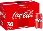 Coca-Cola Classic Cans, 36x 375ml $27 + Delivery (Free with Prime/ $49 Spend) @ Amazon AU