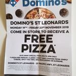 [NSW] Free Pizza Giveaway Special [from 2pm-3pm, Nov 19-23] @ Domino's (St Leonards)