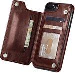 iPhone 7 Plus iPhone 8/8s Plus Marval.p Slim Premium Leather iPhone Wallet Case $6.98 + Postage (Free w/ $49 Spend) @ Amazon AU