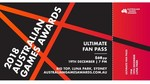 [Pre-Order] Australian Games Awards (Luna Park Sydney 7pm 19 Dec) Ultimate Fan Pass $68 + Shipping @ EB Games