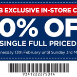 40% off Any Full Priced Item (in Store Only) @ Spotlight (VIP Card Required)