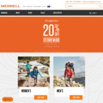 Merrell Afterpay Day Sale - 20% off Sitewide