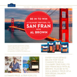 Win a Trip for 2 to San Francisco Worth $15,000 or 1 of 14 $100 Vouchers [Purchase a Specially-Marked Regal Salmon Product]