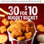 [QLD] KFC $10 Bucket of 30 Nuggets + 5 Sauces (Via App)