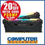 Corsair (2 x 8GB) DDR4 3000MHz Vengeance RGB Pro RAM Kit $167.20 + $15 Delivery (Free with eBay Plus) @ Computer Alliance eBay