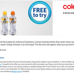 Free Gatorade G Active Electrolyte Water 600ml @ Coles via Flybuys App or Website