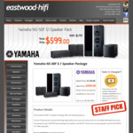 Yamaha NS-50F 5.1 Surround Sound Speaker Pack $599 (Was $1797) + Free Shipping Most Areas or Pickup @ Eastwood Hifi Sydney