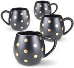 Set of 4 Gold Spot Hug Mugs $14 (Was $49.95) + Delivery (Free over $75 Spend) @ Robert Gordon Australia