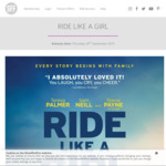 """[QLD] """"Ride Like A Girl"""" Free Film Screening Sunday 15/9 10:30AM at Event Cinemas Indooroopilly & Carindale via Showfilmfirst"""