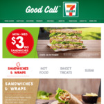 7-Eleven $3 Sandwiches from The $5 Range Monday to Wednesday until October 23