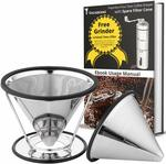 Free Vagabeans Manual Coffee Grinder with Pour over Coffee Maker Set $30 + Post ($0 with Prime/ $39 Spend) @ Vagabeans Amazon AU