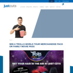 Win 1 of 86 Trolls World Tour Family Movie Passes or Merchandise Packs from Just Cuts