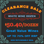 White Wine at $50.40/Dozen ($4.20/Bottle) (Warehouse Clearance) Free Shipping SA & $9 Interstate. @ Skye Cellars