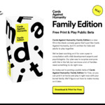 Cards Against Humanity: Family Edition (Beta) - Free Print and Play