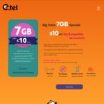7GB Per Month for 6 Months Unlimited Talk & Text 20 Mins International Calls | $10/M @ Etel Mobile