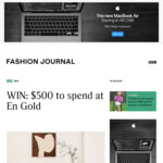 Win a $500 En Gold Voucher from Fashion Journal