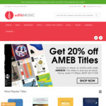20% off AMEB Books @ Adlib Music (Shipping $6.95 or Free with Orders over $50)