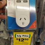 Jackson 4 Outlet USB Charger Power Outlet $12.50 @ Woolworths