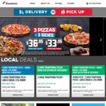 Various Snacks and Deserts (e.g. Garlic Bread, Lava Cake) $1.50 (Pickup Only) @ Domino's via App
