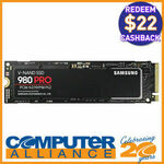 [eBay Plus, AfterPay] 1TB Samsung 980 PRO M.2 NVMe $254.32 + $22 Cashback via Redemption @ Computer Alliance eBay