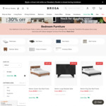 Up to 30% off Bedroom Sale + Extra 4% Cashback from Swooped @ Brosa Furniture
